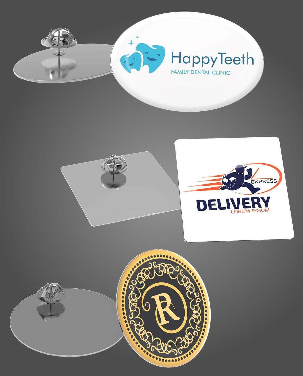 Anstecker und Pins mit Logo